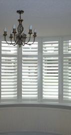 Plantation Shutters - Bury Bay Window - Silk White