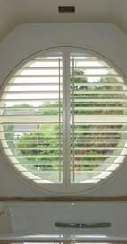 Plantation Shutters - Liverpool Circular Window - Cameo