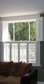 Plantation Shutters - Whitefield Sash Window - Tier-on-Tier
