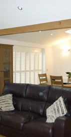 Plantation Shutters - Chorley Patio Door - Pearl