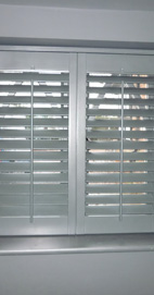 Plantation Shutters - Lancashire Farrow & Ball Downpipe