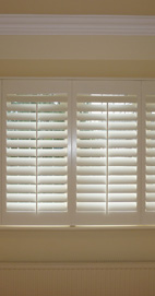 Plantation Shutters - Lancashire Square Bay Window
