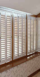 Plantation Shutters – Manchester Orangery Shutters – Limed White