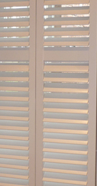 Plantation Shutters – Manchester Cedar Shutters – Farrow & Ball Lamp Room Gray