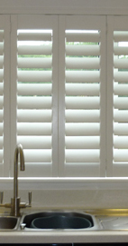 Plantation Shutters – Manchester Kitchen Shutter - Basswood