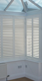 Plantation Shutters – Manchester Conservatory Shutters – French Door Cut Out