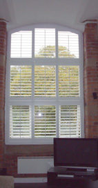 Plantation Shutters - Wirral Converted Mill - Bright White