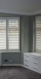 Plantation Shutters - Manchester Bay Window Shutter