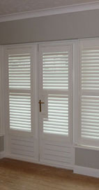 Plantation Shutters - Manchester French Handle Cut-Out