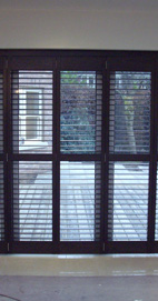 Plantation Shutters - Manchester Patio Door - Black