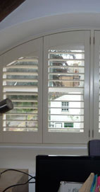 Plantation Shutters - Manchester Shaped Shutter