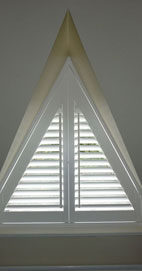 Plantation Shutters - Manchester Triangular Shutter