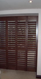 Plantation Shutters - Salford Room Divider - Old Teak