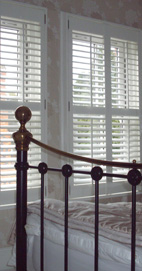 Plantation Shutters - Oldham Bedroom - Silk White